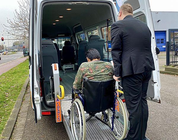 Wheelchair taxi